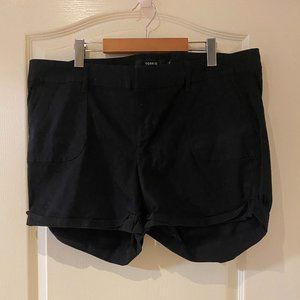 Torrid Fabric Black Shorts